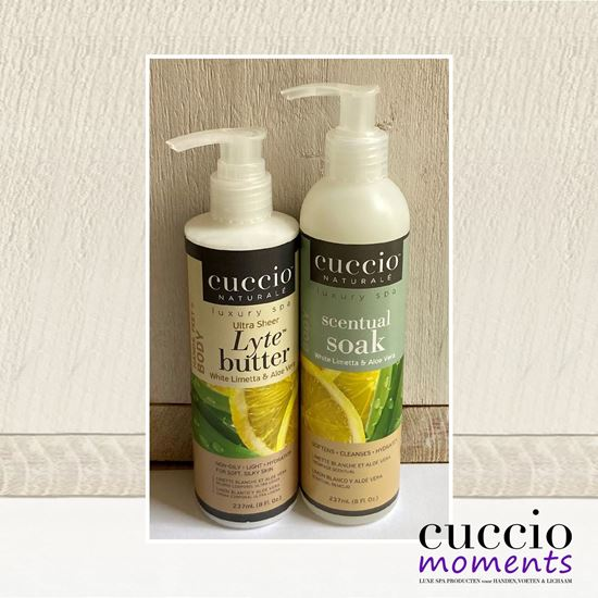 Afbeelding van Cadeauset Bodybutter Lytes + Scentual Soak 3 in 1 White Limetta & Aloe Vera